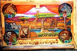 Serengeti Eyes carving